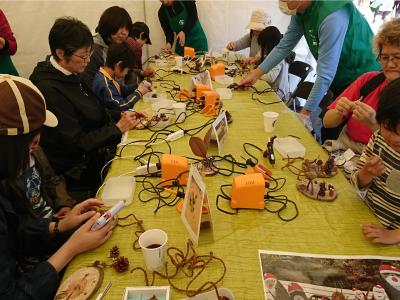 里山ガーデンフェスタ 木工工作イベント